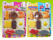 Item 618669 Fast Food and Cookies Kitchen Playset Kitchen Chef Pretend Play for Kids