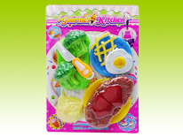 Item 681172 Gourmet Kitchen Playset Steak Meal Safety Guaranteed Kitchen Toys for Children