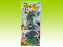 Item 647898 Dinosaur Finger Puppet 4 in 1 Interesting Role Play Toy for Kids