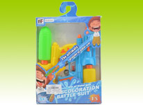 Item 689483 Water Battle Suit and Dual Water Guns Safety Guaranteed Water Gun Summer Toy Beach Toy for Children